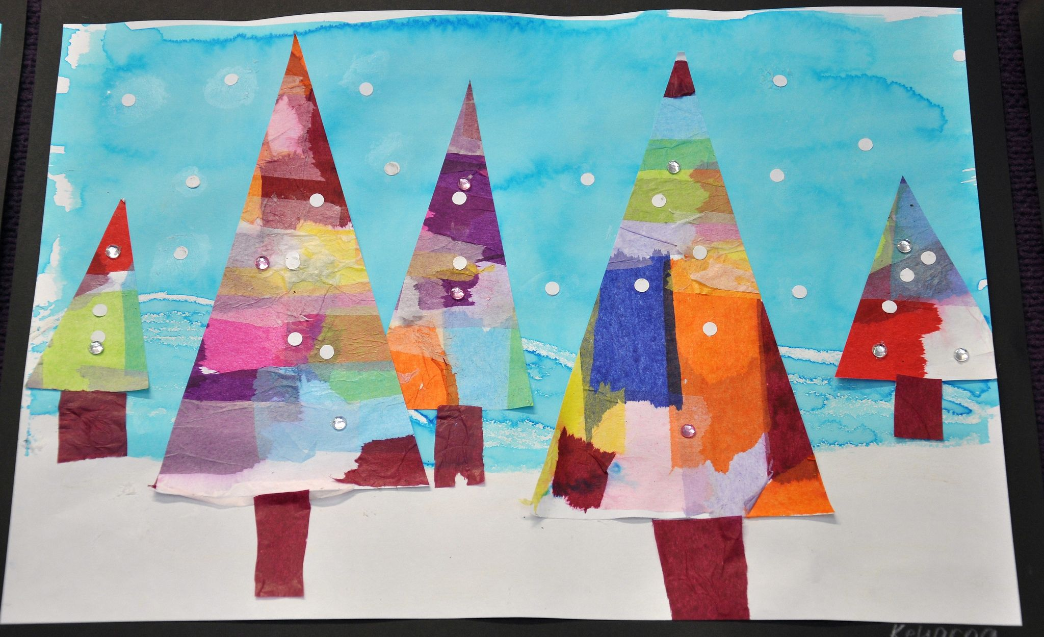 Christmas Art 1 Christmas Tree Art Christmas Art Kids Art Projects