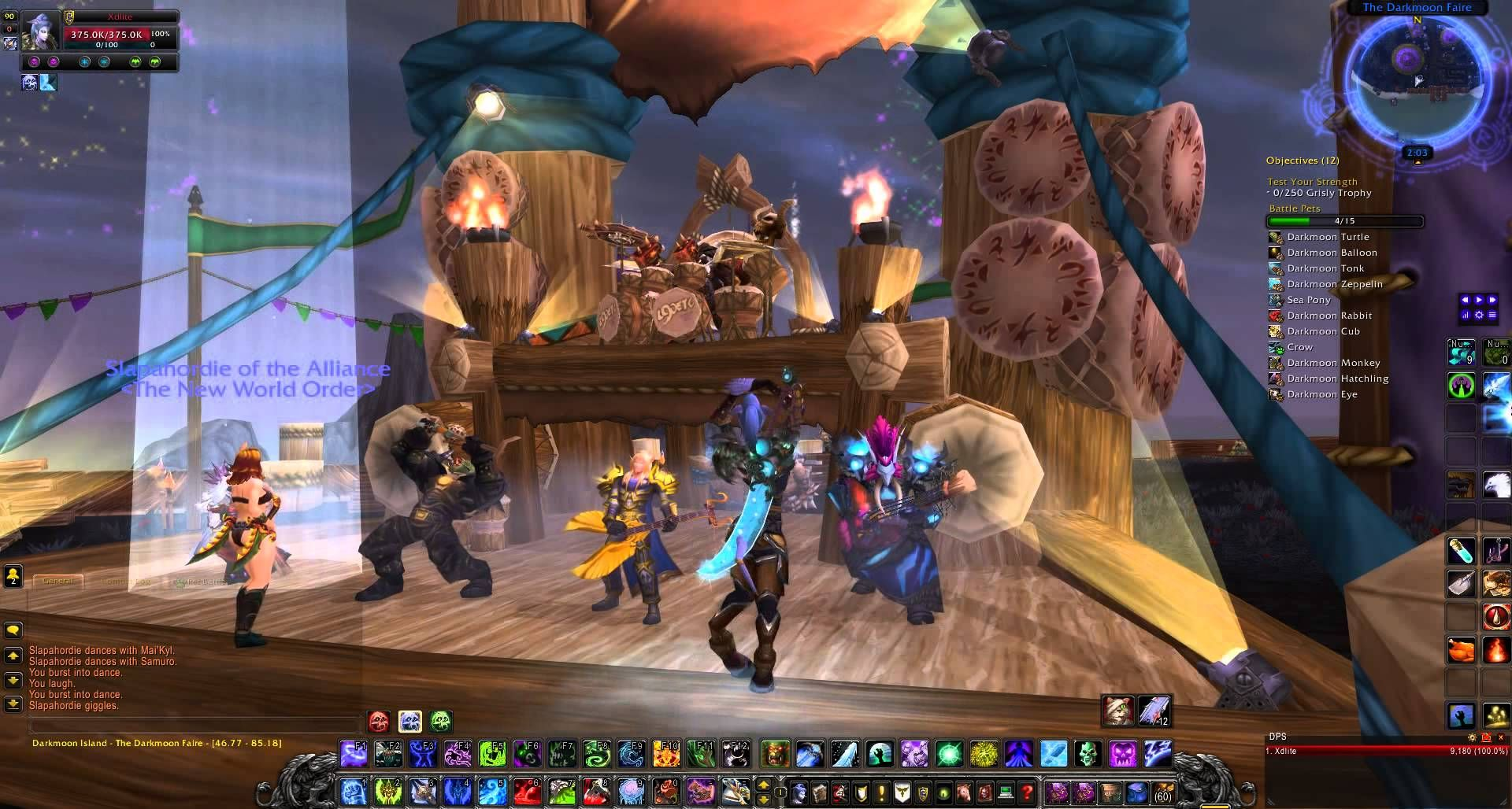 Darkmoon Faire Concert Level 90 Elite Tauren Chieftain Wow L90etc Tauren Chieftain Techno Music