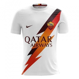 Download 19 20 Roma Away White Soccer Jerseys Shirt Roma Soccer Jersey Soccer Sports Uniforms