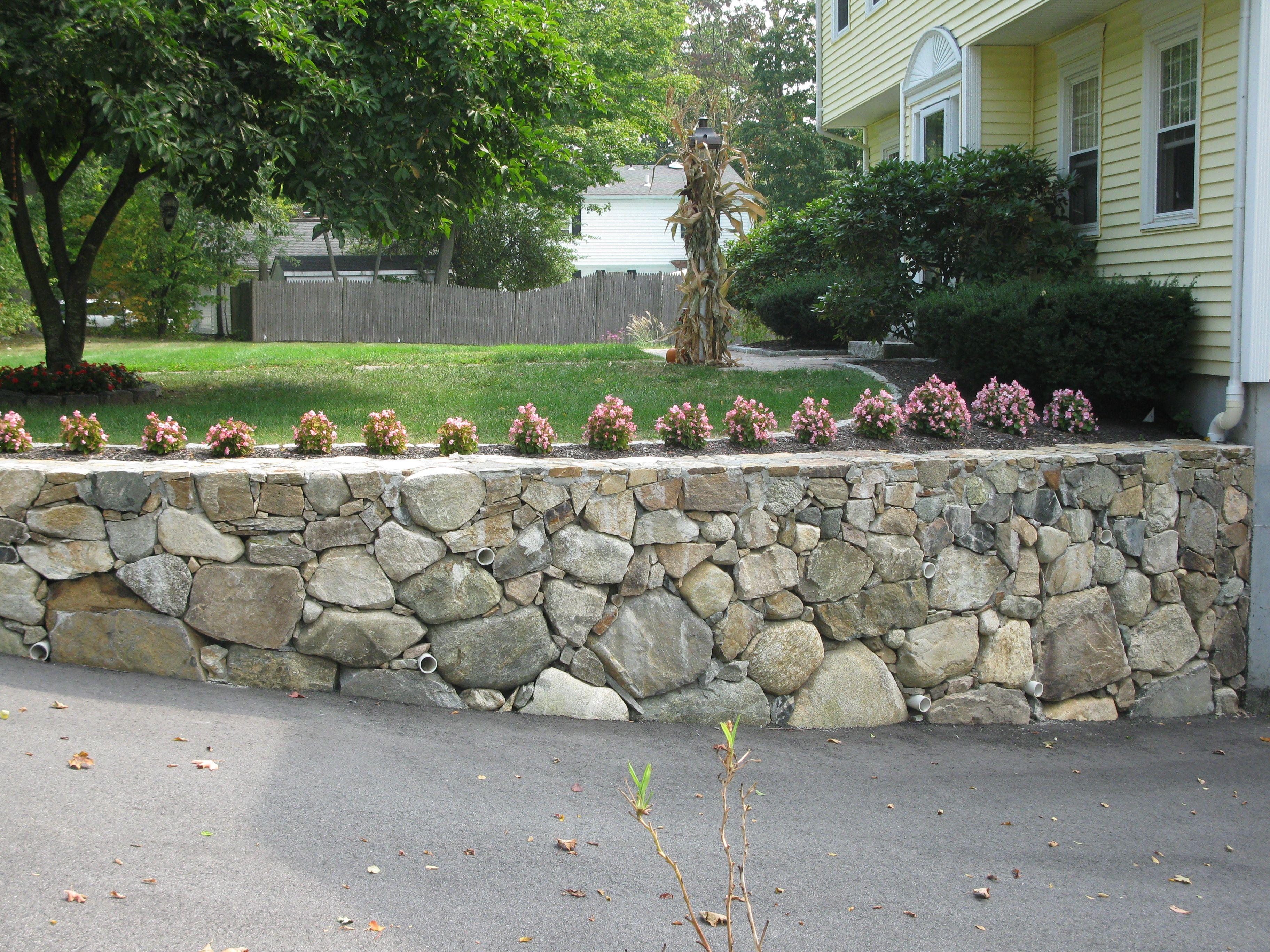 Amazing Stone Walls Landscaping   Storey Landscaping: Stone Walls Nice Ideas
