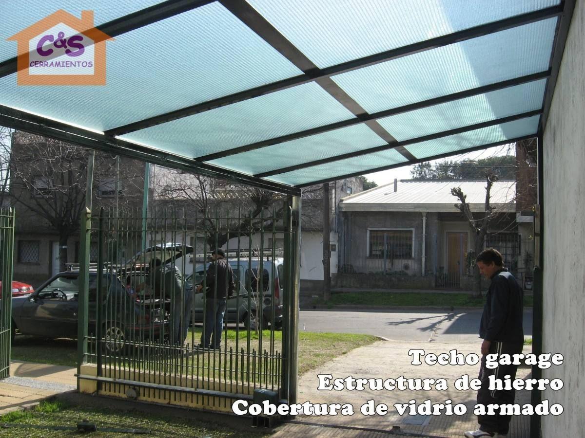 Related pictures techo para cochera techos madera for Garajes con techos policarbonato