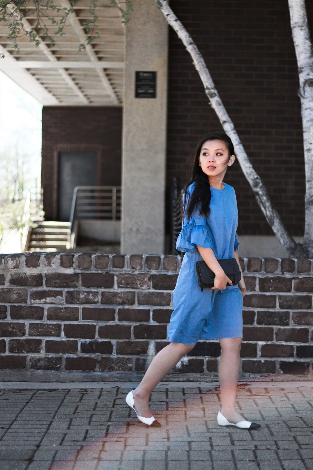 Bell Sleeve Dress Slowing Down Time Looks By Mc Street Style Outfit Summer Shift Dress Dresses [ 1500 x 1000 Pixel ]