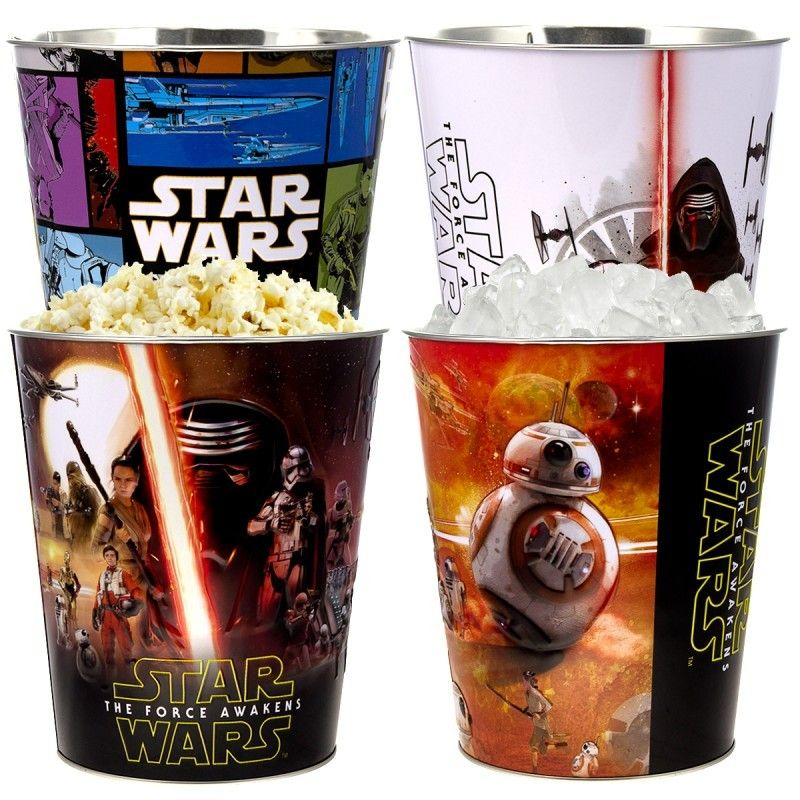 Star Wars Küchenutensilien Set Of 4 Star Wars: The Force Awakens Collectible Buckets