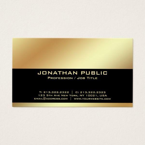 Professional modern elegant black and gold simple business card professional modern elegant black and gold simple business card reheart Gallery