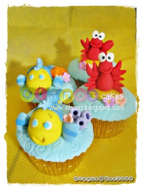 lobster & fish cupcakes
