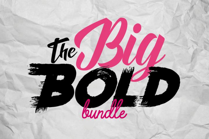 Download $29 The Big Bold Font Bundle, Web fonts By TheHungryJPEG ...
