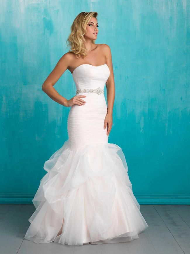 Fishtail wedding dresses from Allure | Wedding Bells | Pinterest ...