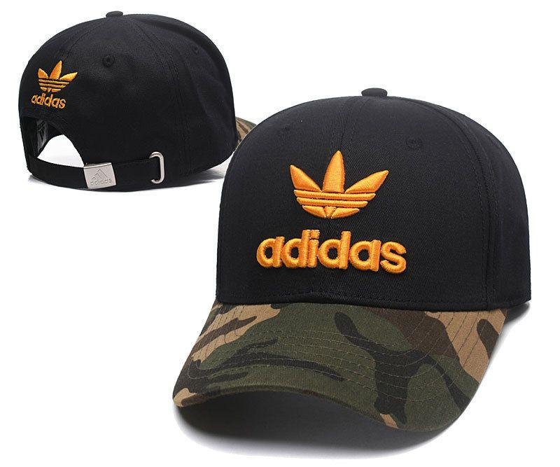 Men's / Women's Adidas Tre-Foil Logo Adjustable Dad Hat - Camo / White