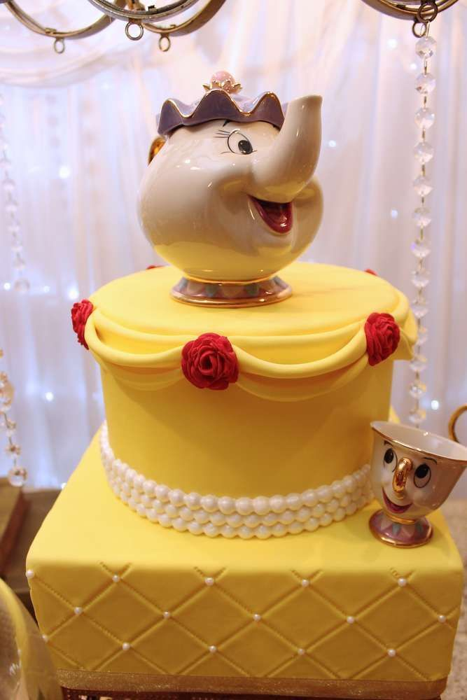 Dont Miss This Amazing Beauty And The Beast Birthday Cake