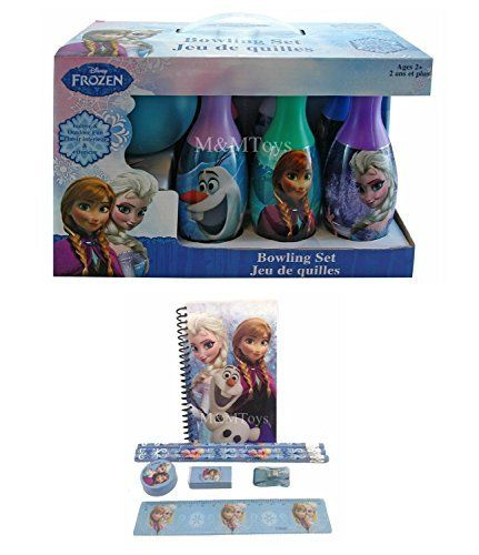 Disney FrozenElsa Anna and Olaf Bowling Set  Stationary Set for Kids -- Click for more Special Deals #Disney#Disneybound#DisneyKids#Disneyland