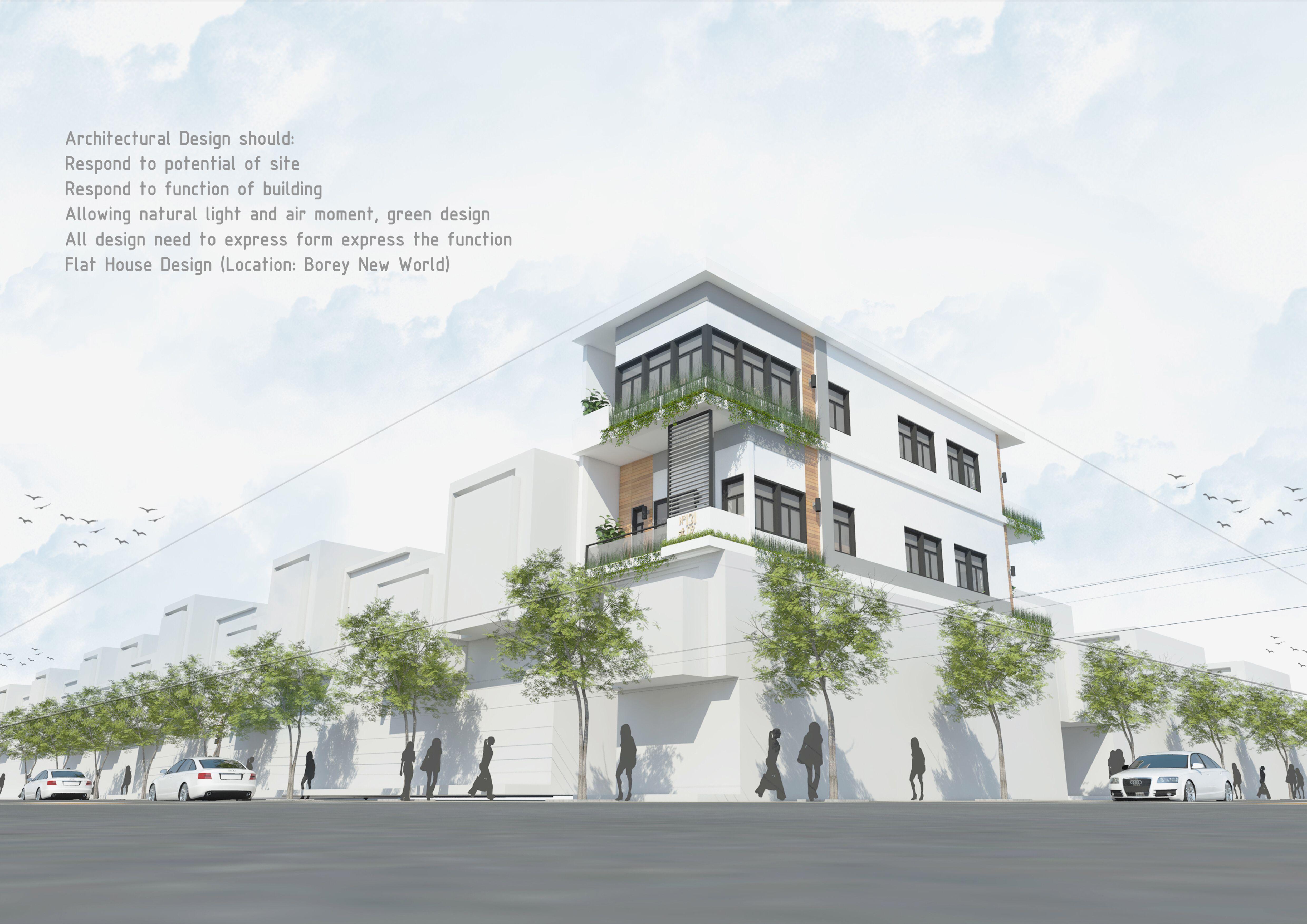 Khmer Modern Architects Modern Architects Flat House Design