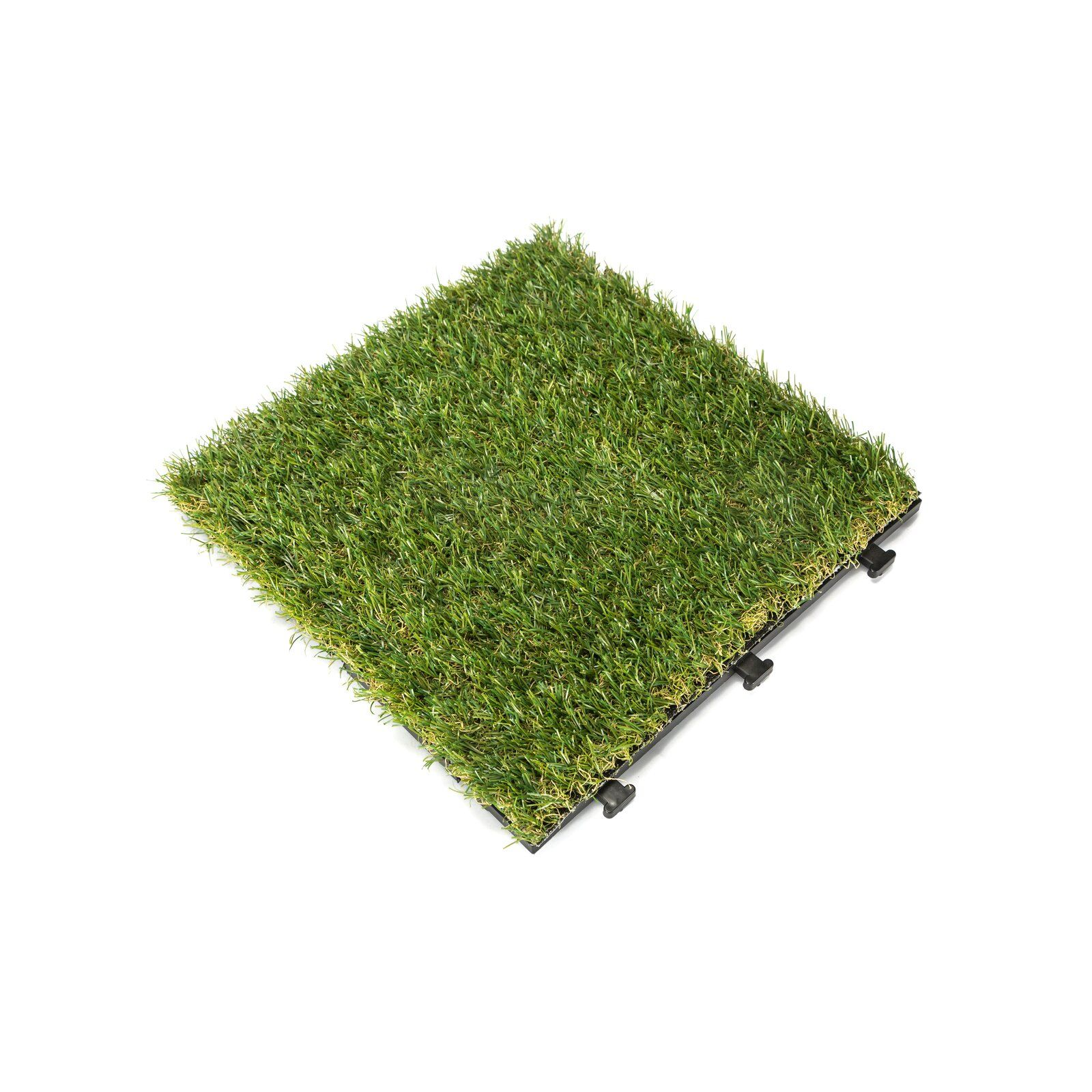 12 X 12 Plastic Interlocking Deck Tile In Green Deck Tile Diy Artificial Turf Artificial Grass