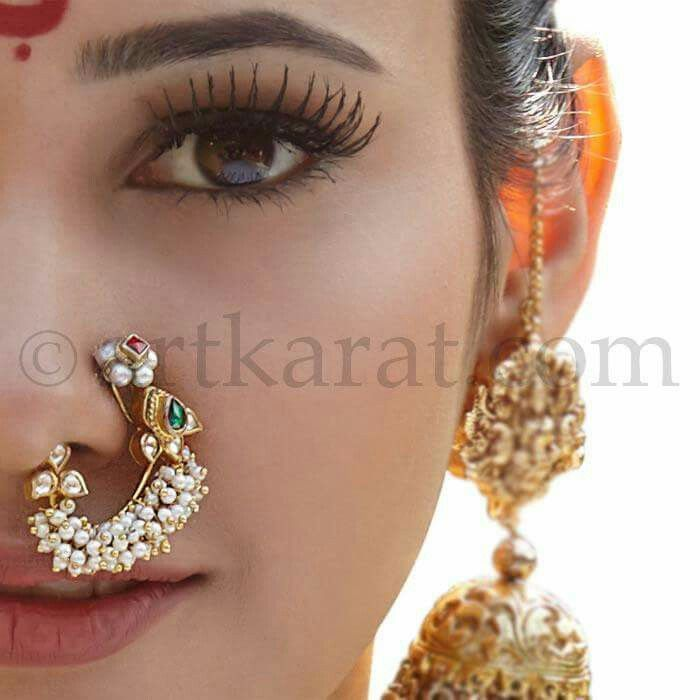 Nath Nose Ring By Artkarat Paintings Jewelry