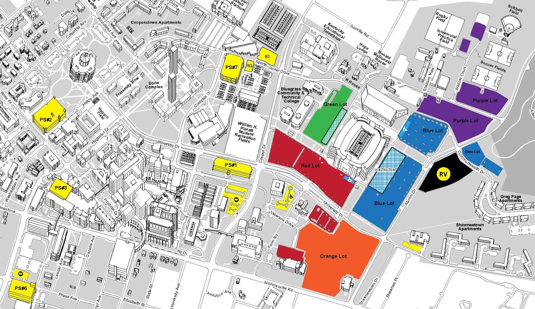 Uk Parking Map UK parking map | University of Kentucky | Map, University of
