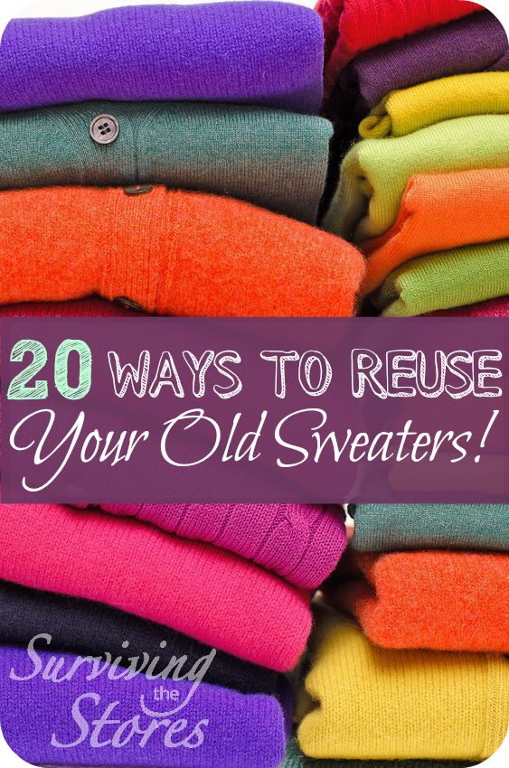 20 Ways To Reuse Your Old Sweaters Oh So Clever Old Sweater