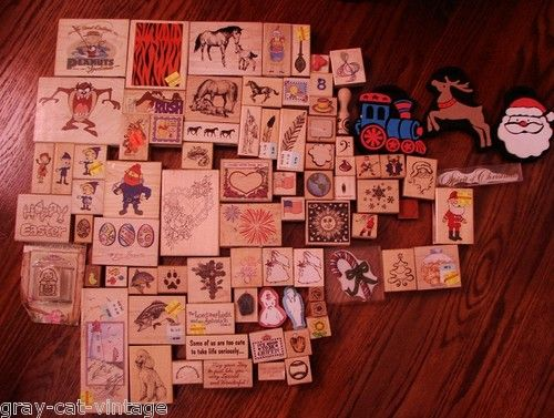 Huge Rubber Stamp Collection