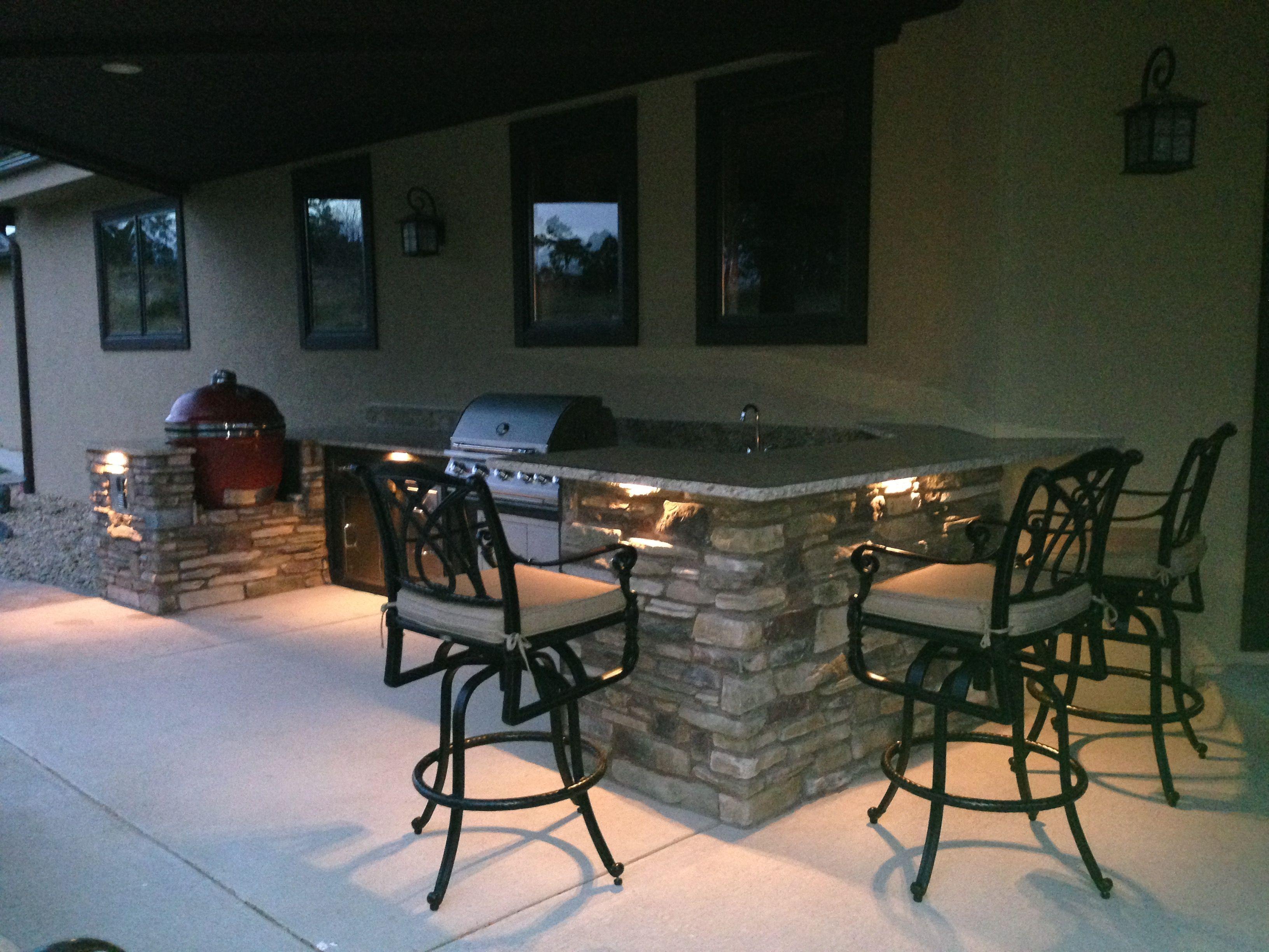 1609b outdoor kitchen led cap lights bbq stone veneer september