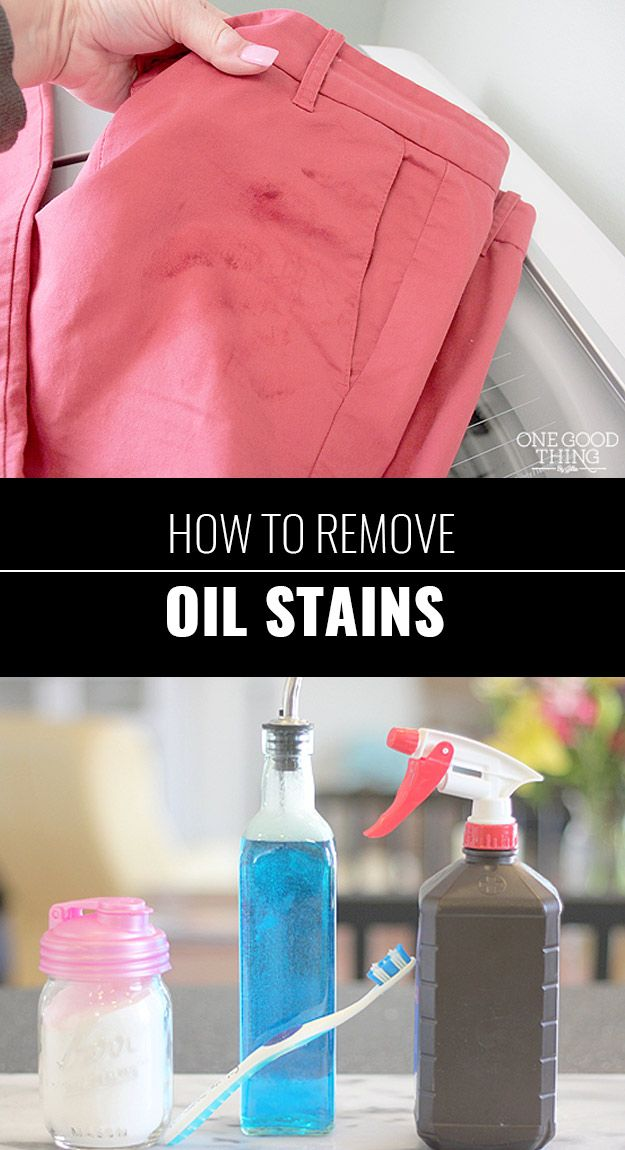 31 Diy Hacks For Stained And Ruined Clothes Remove Oil Stains