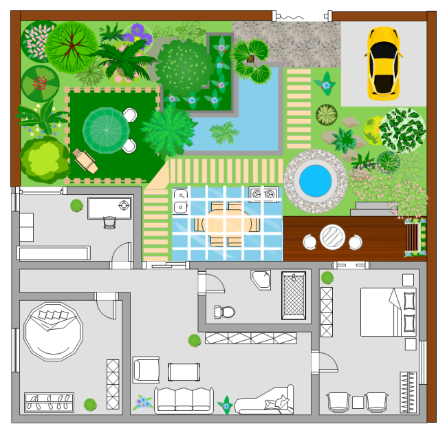 A free customizable garden floor plan template is provided ...