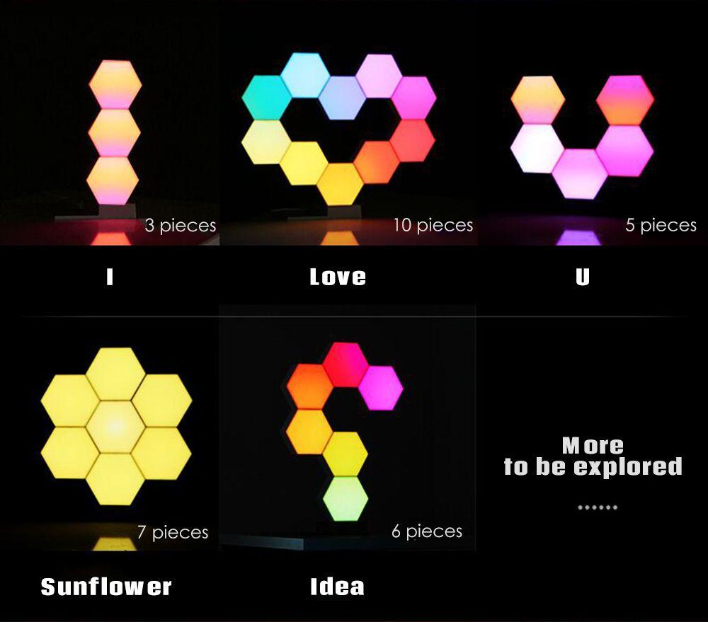 Pico Leaves Smart Led Lights Usb Hexagonal Light Panels Light Panels Led Lights Led Night Light