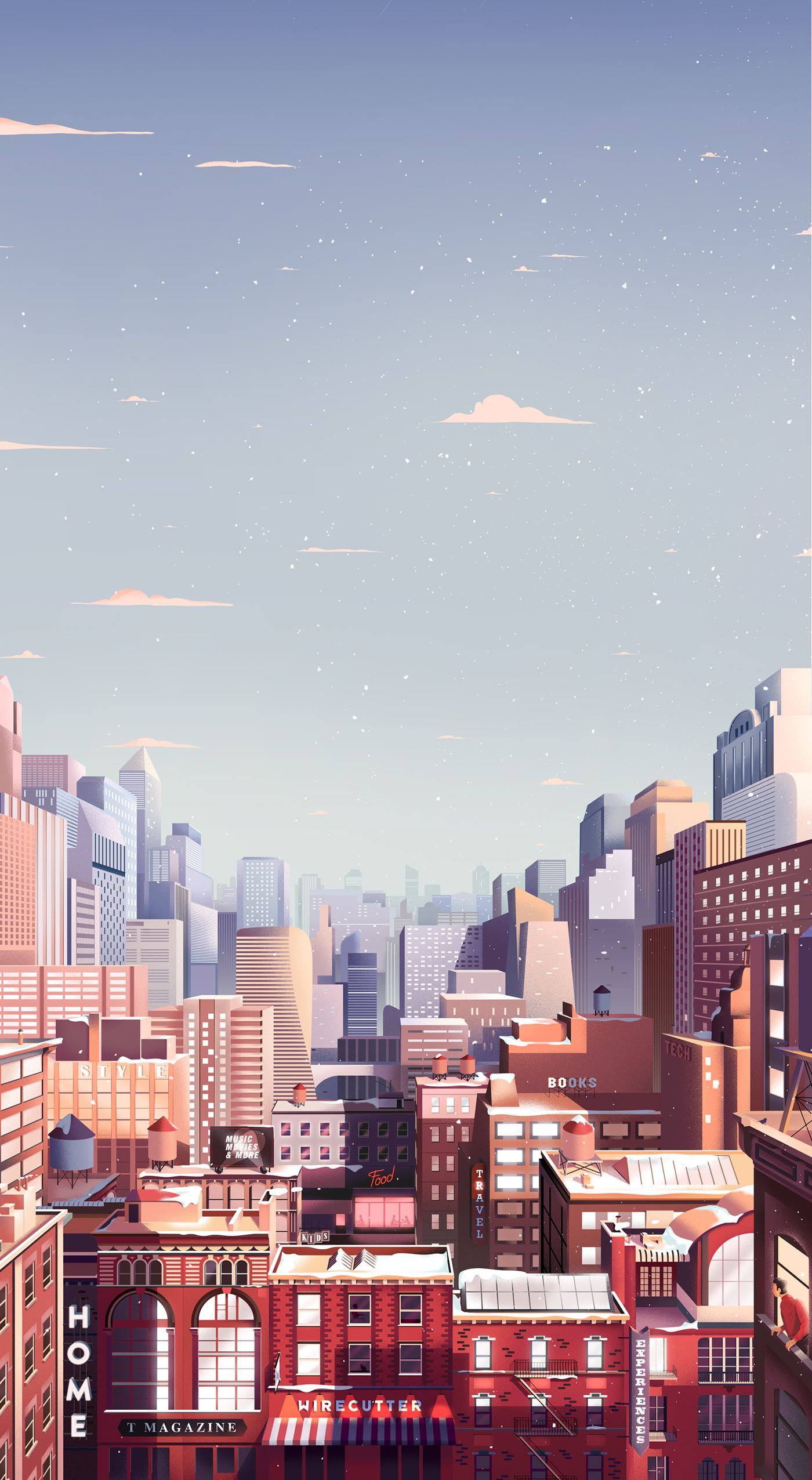 The New York Times Gift Guide On Behance Aesthetic Wallpapers Building Illustration City Illustration