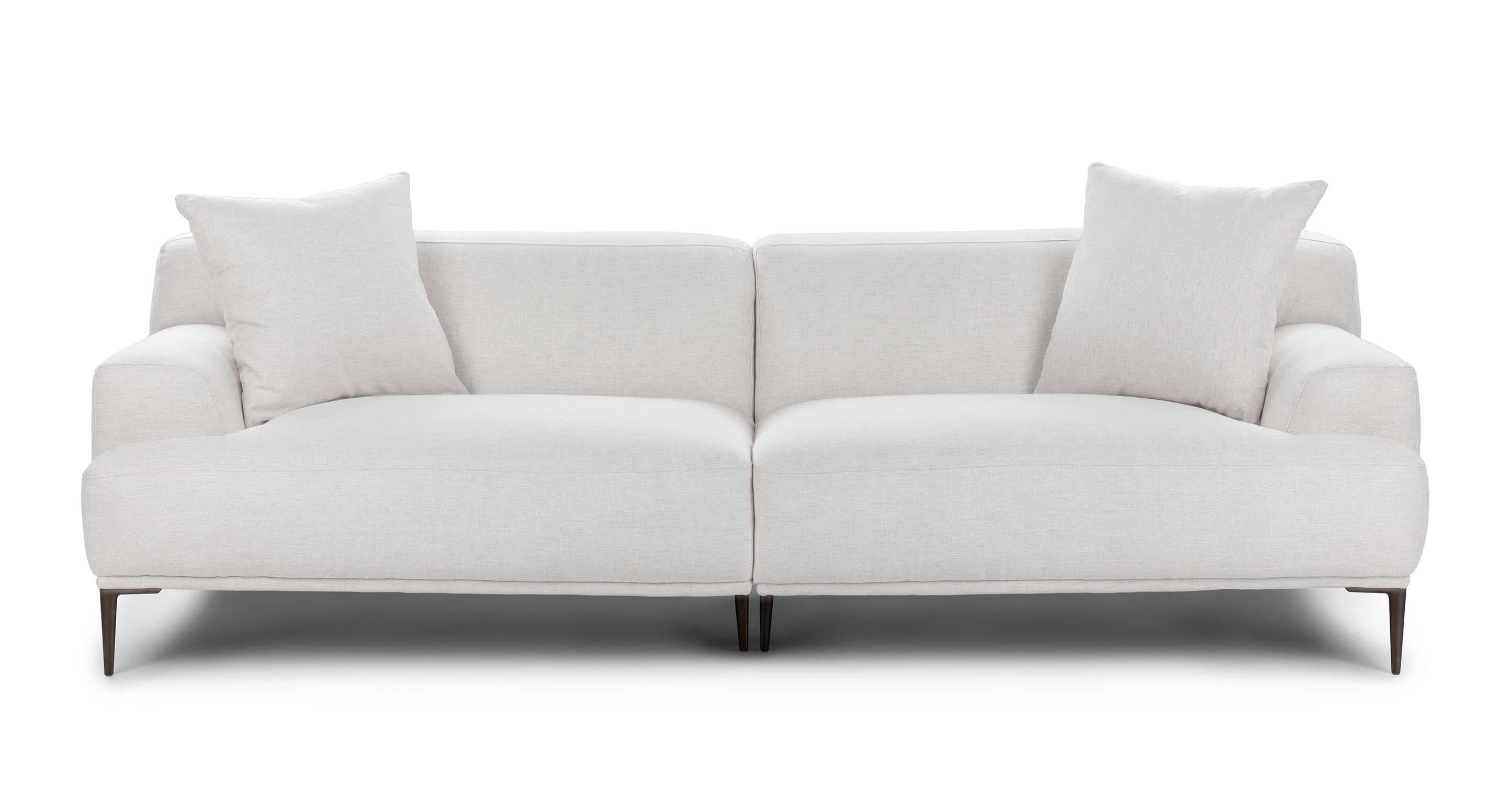 Best Abisko Quartz White Sofa Contemporary Decor Living Room 400 x 300