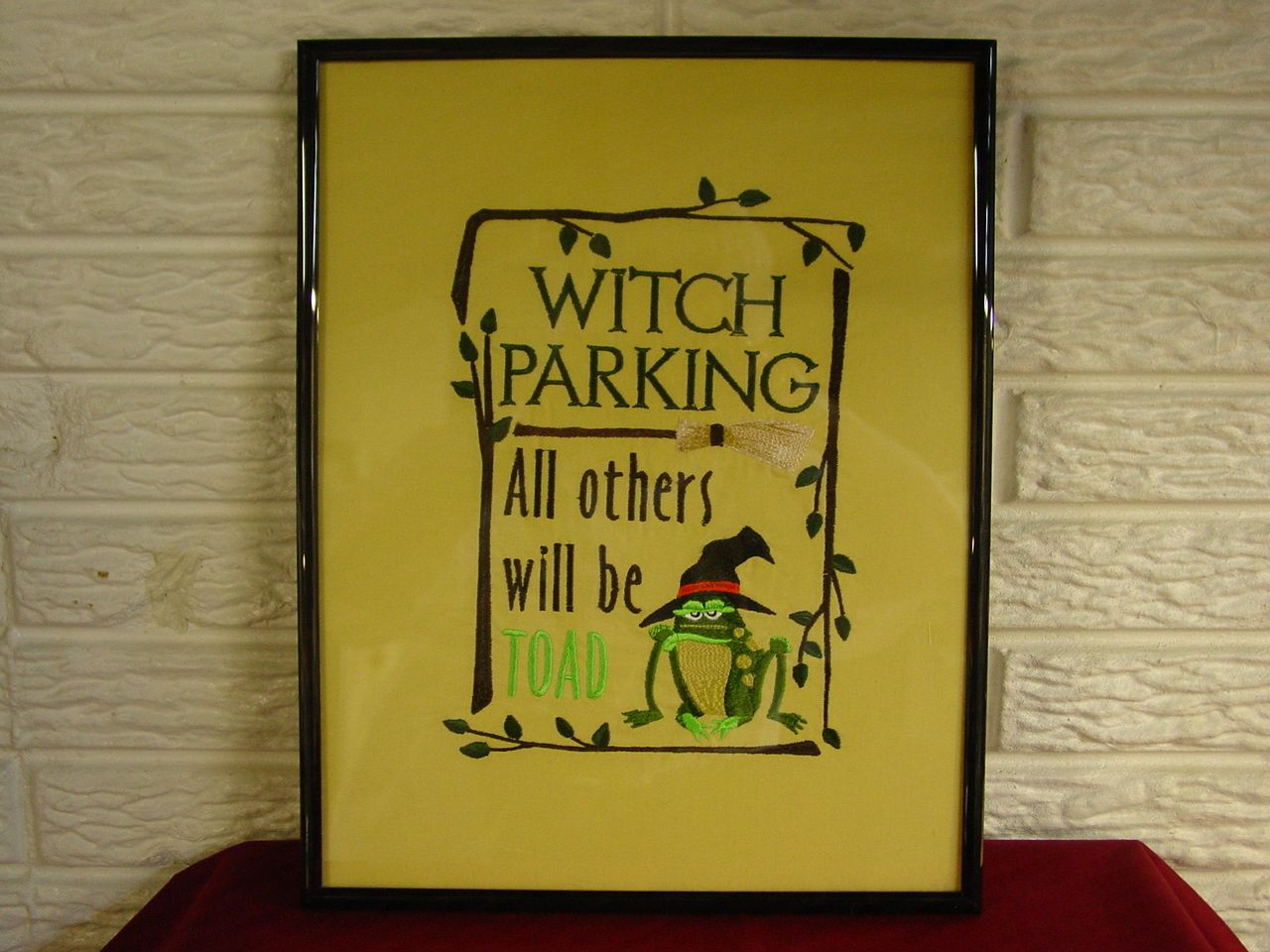 Witch Parking Sign