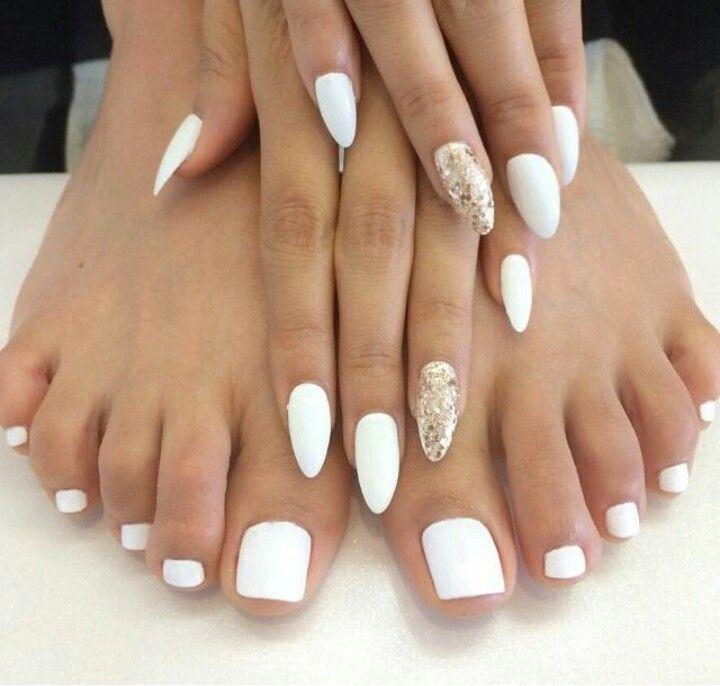 White Mani & Pedi   Nail Art   Pinterest   Mani pedi, Pedi and Nail nail