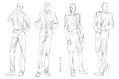 A solid fashion illustration must start with a good, loose
