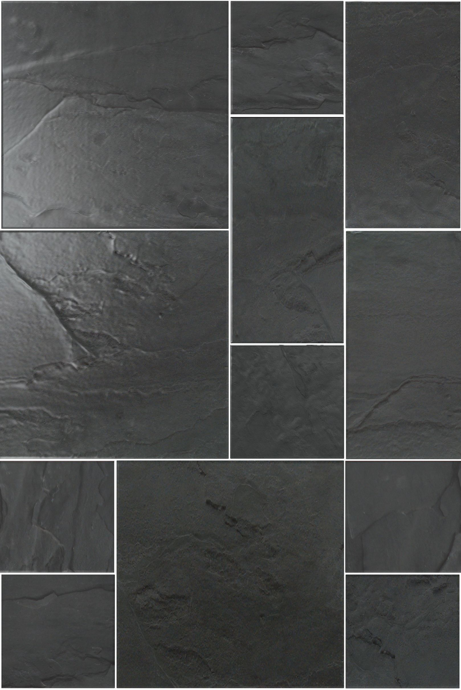Black slate showers rustic black slate modular uncalibrated p information about rustic black slate modular uncalibrated tile dailygadgetfo Image collections