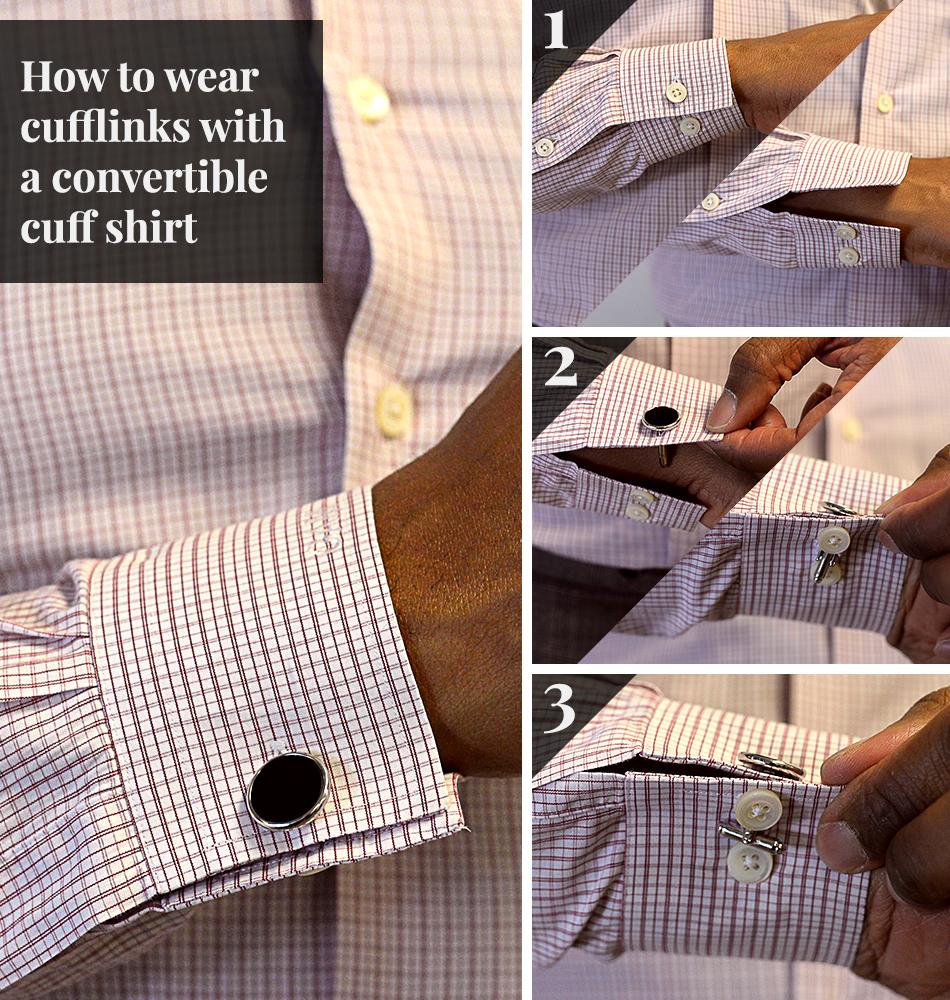 How To Wear Cufflinks French Cuffs Black Lapel Cufflinks Cufflinks Shirt French Cuff