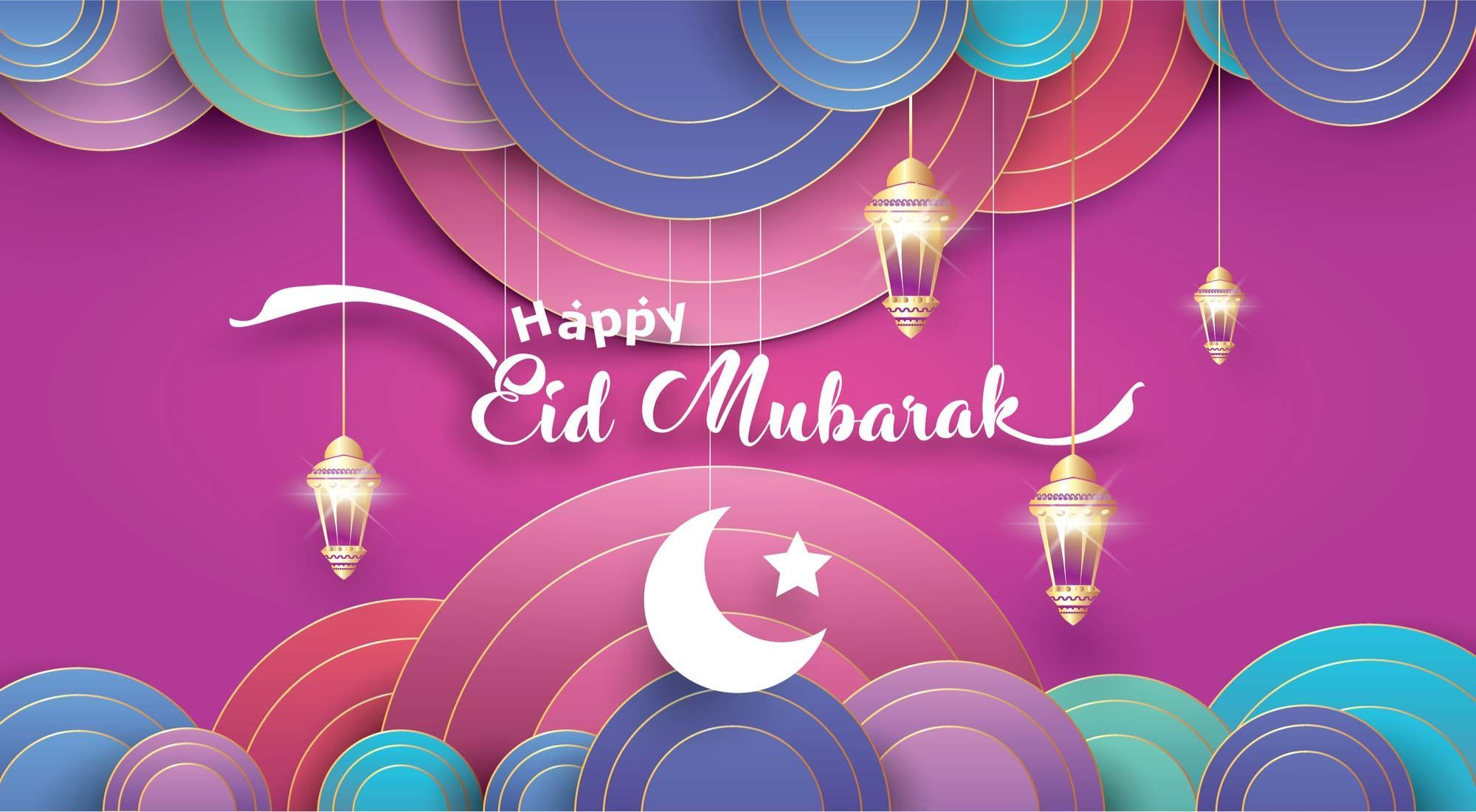 How Can We Have Fun This Eid What Rulings Apply To This Eid Ul Fitr These Questions And Many More Hints Eid Card Designs Happy Eid Greeting Card Illustration