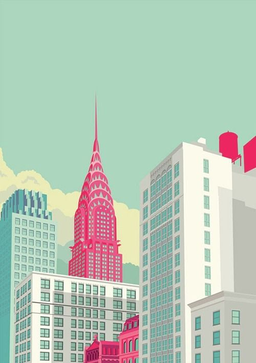Colorful Illustrations Of New York City By Remko Heemskerk New