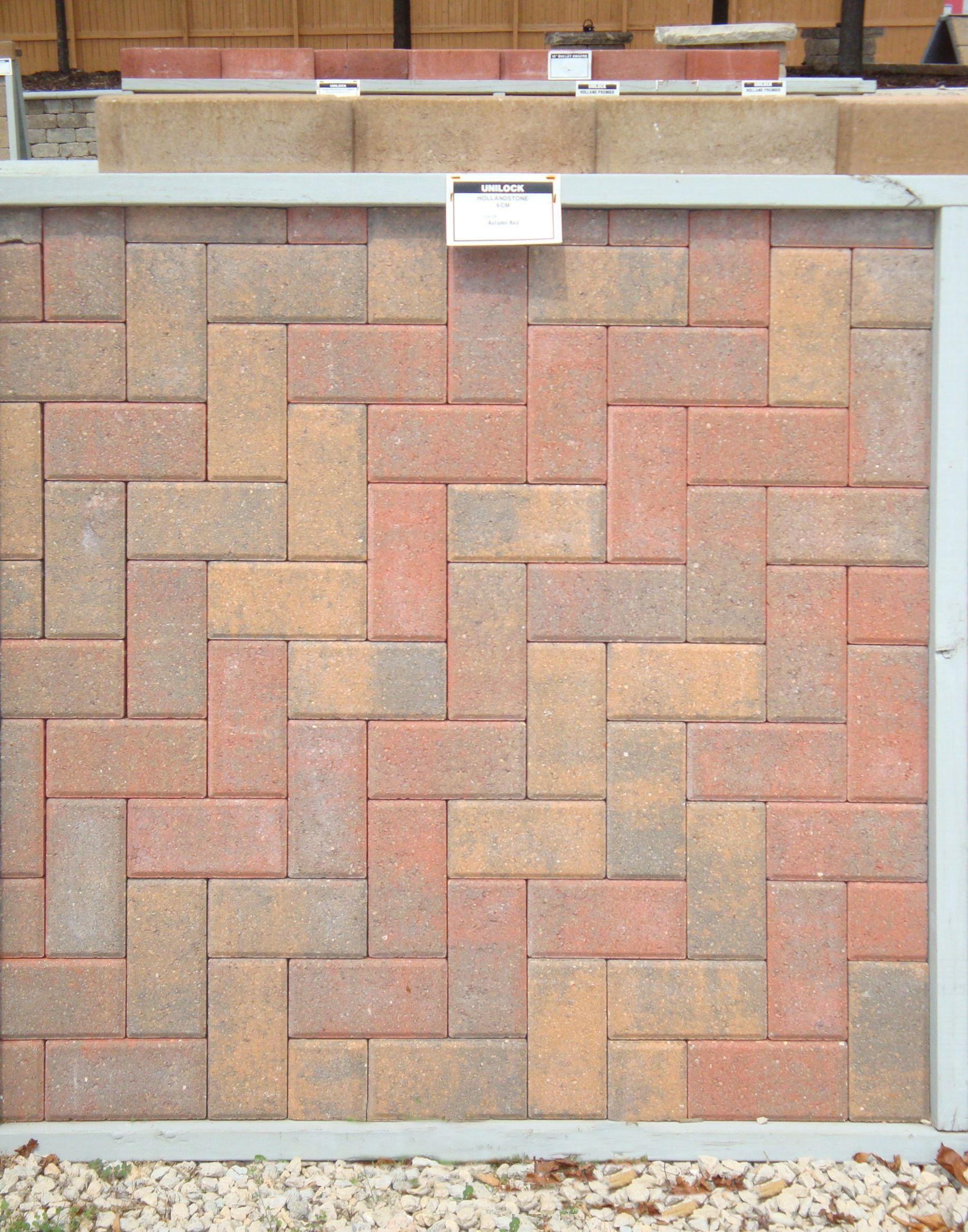Herringbone 45 Degree Offset Hollandstone Autumn Red Brick