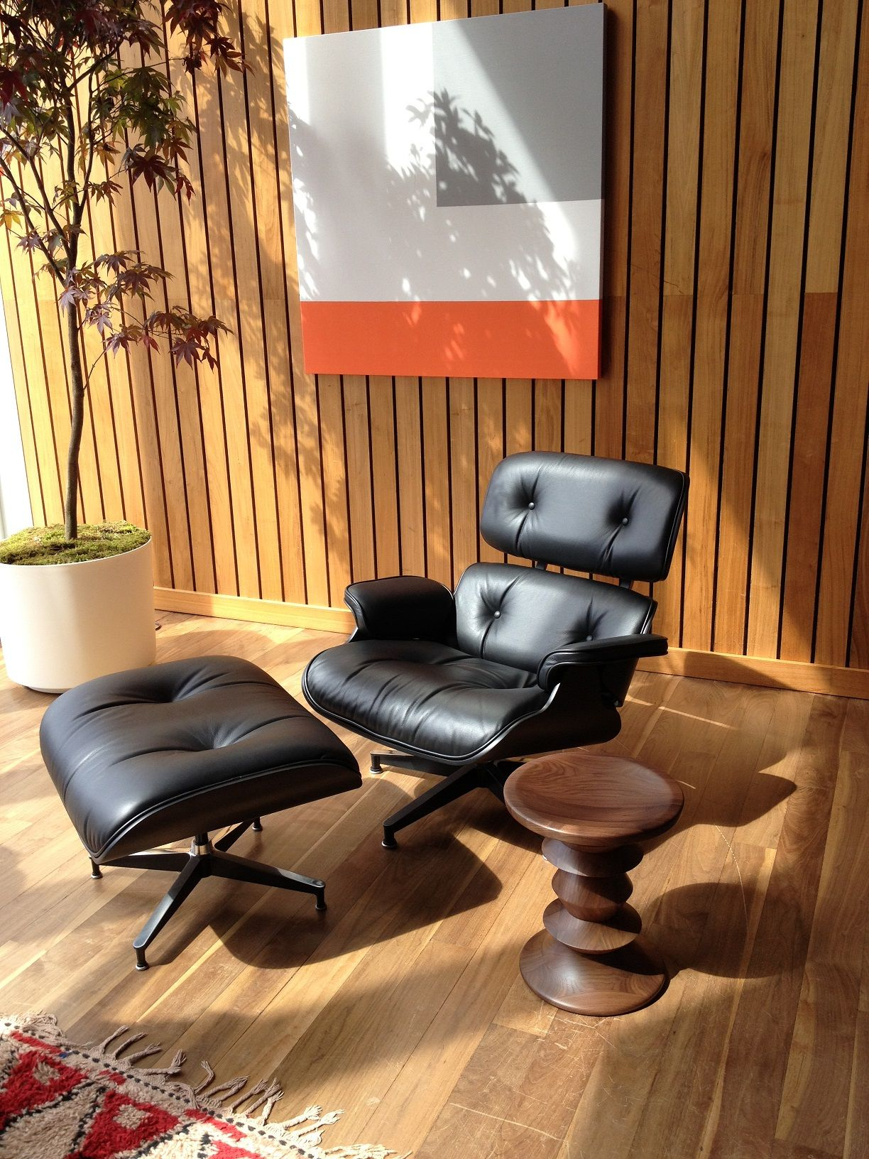 ICFF 2014 New All Black Eames Classic Lounge and Ottoman