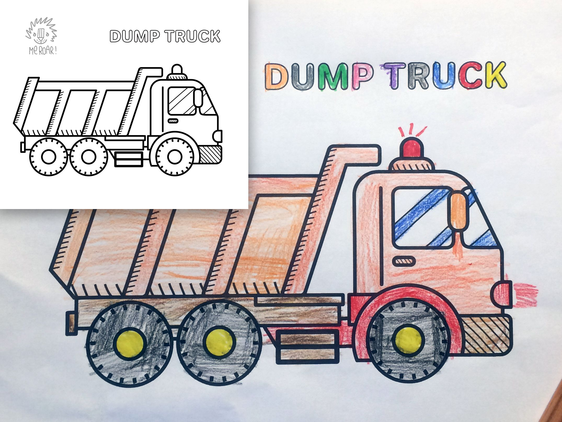 truck coloring book for cars, trains and all kind of ...