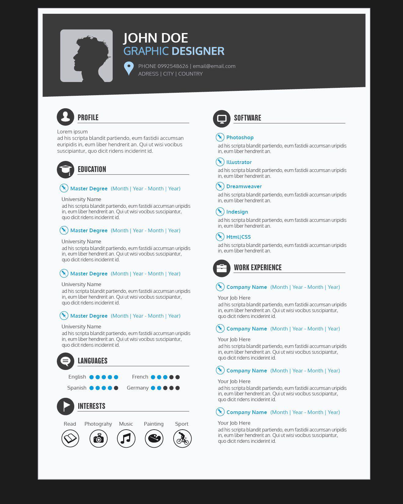 20 senior graphic designer resume  resume design graphic