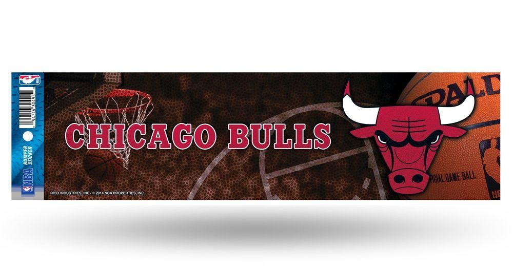 ~Chicago Bulls Bumper Sticker - Glitter~ backorder