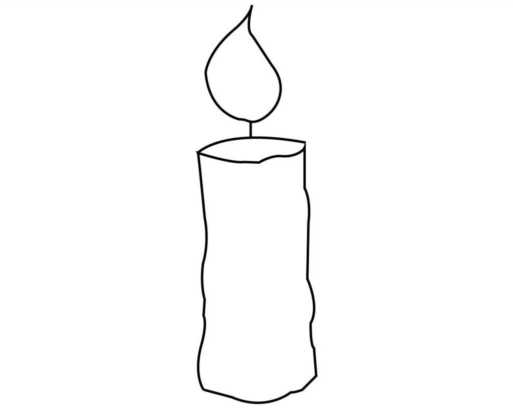 Candle Coloring Page For Your Little Ones Birthday
