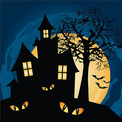 Haunted House Haunted House Drawing Halloween Haunted Houses Scary Haunted House