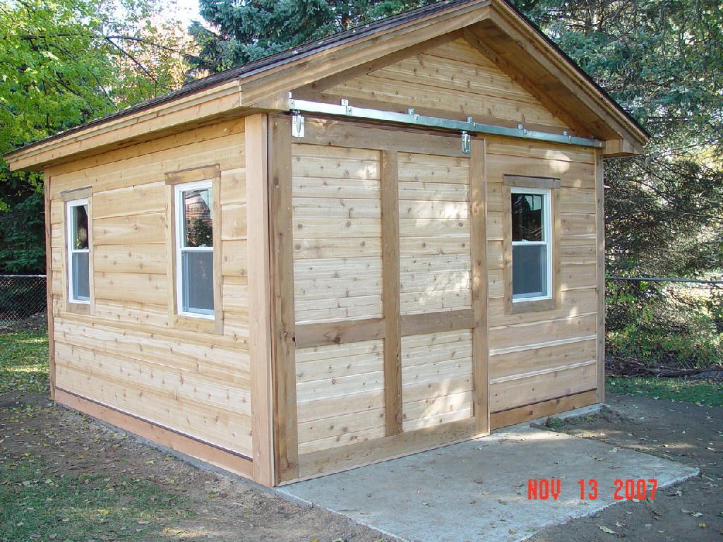 Storage Shed With Sliding Barn Door