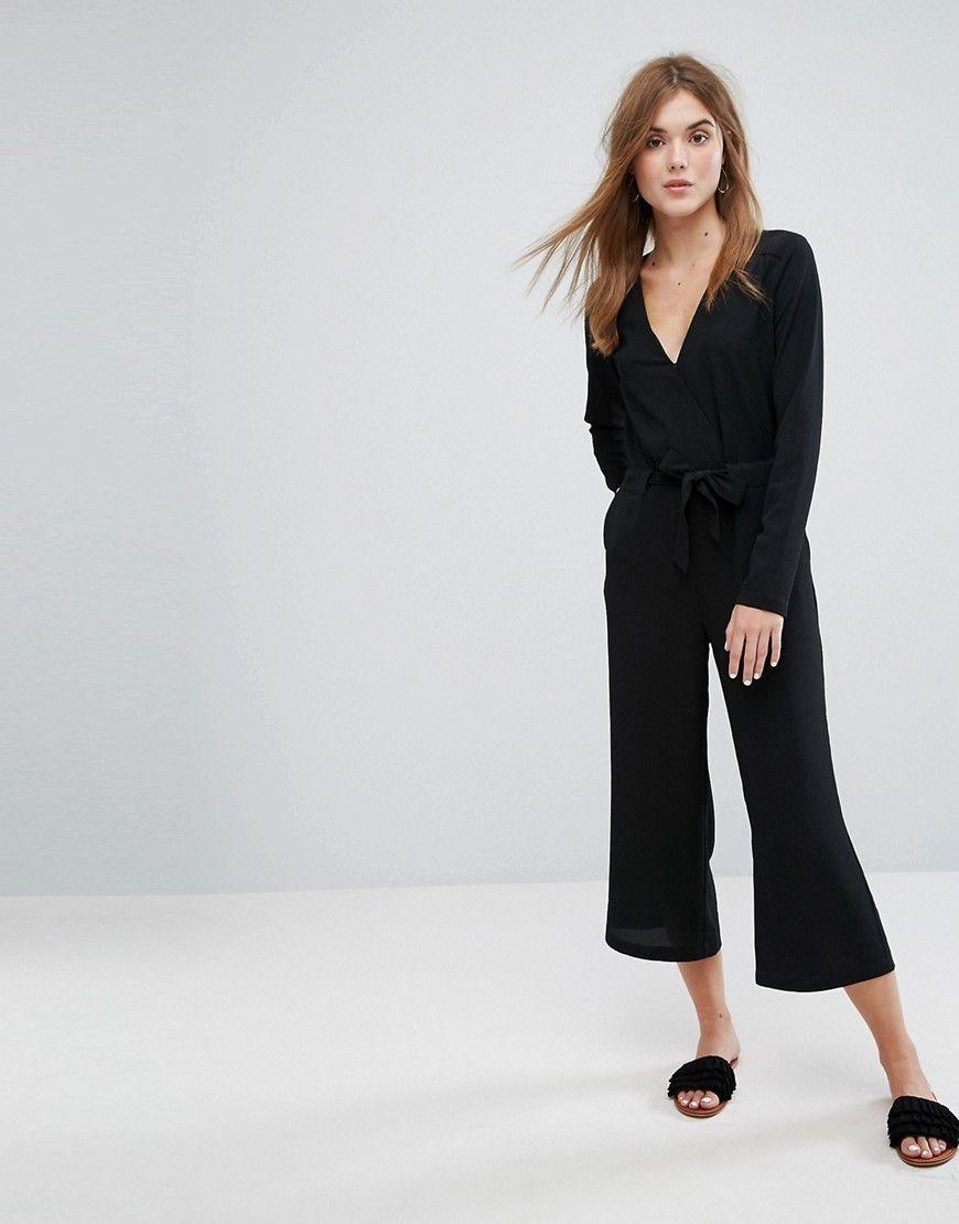 latest style of 2019 discount shop choose latest Vila Tie Waist Jumpsuit - Black   Summer 2019 in 2019 ...