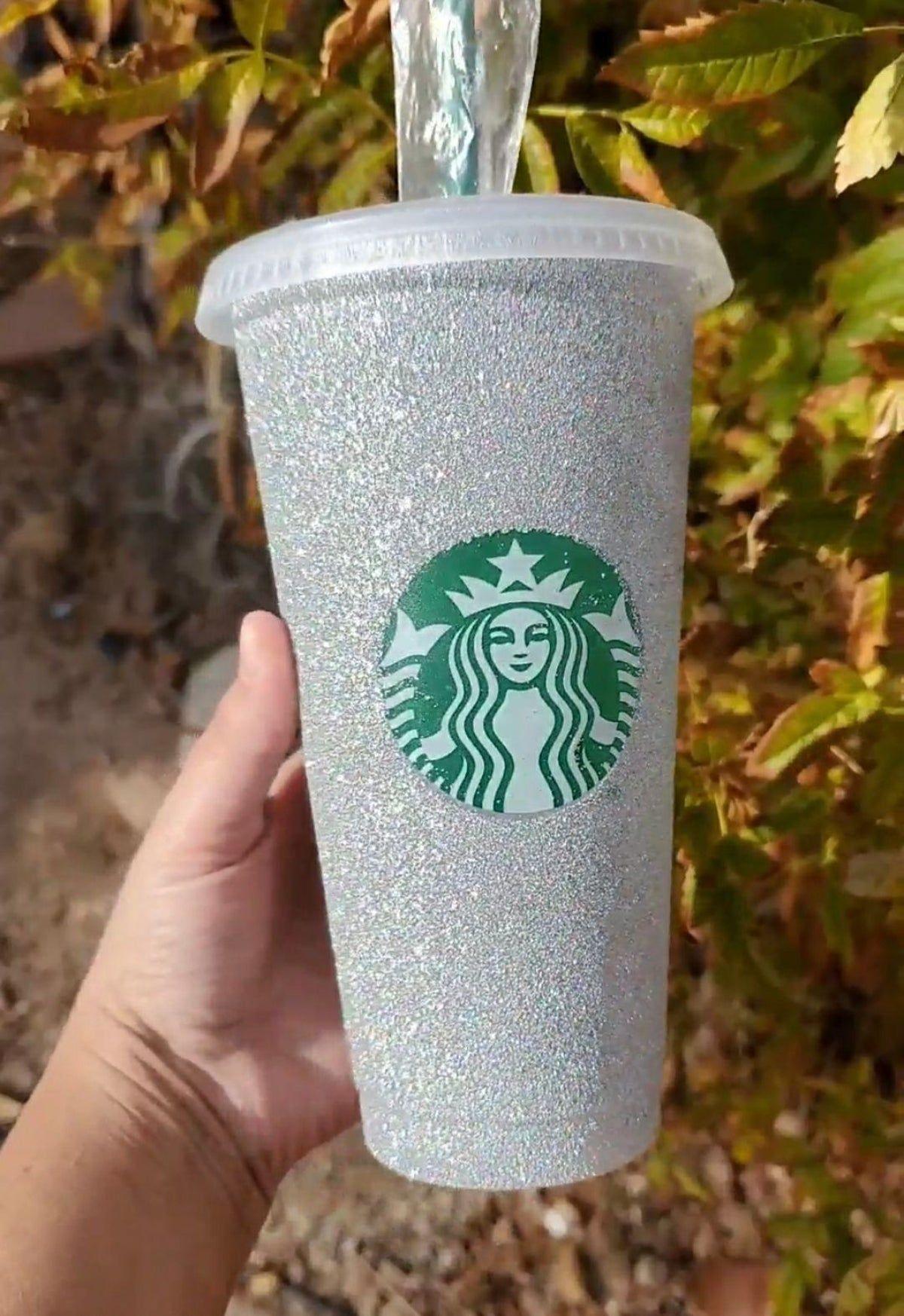 Starbucks bling glitter cup in 2020 | Custom starbucks cup