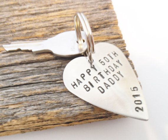 50th Birthday Gift For Dad Idea Husband Men Present Daddy Keychain Custom Message