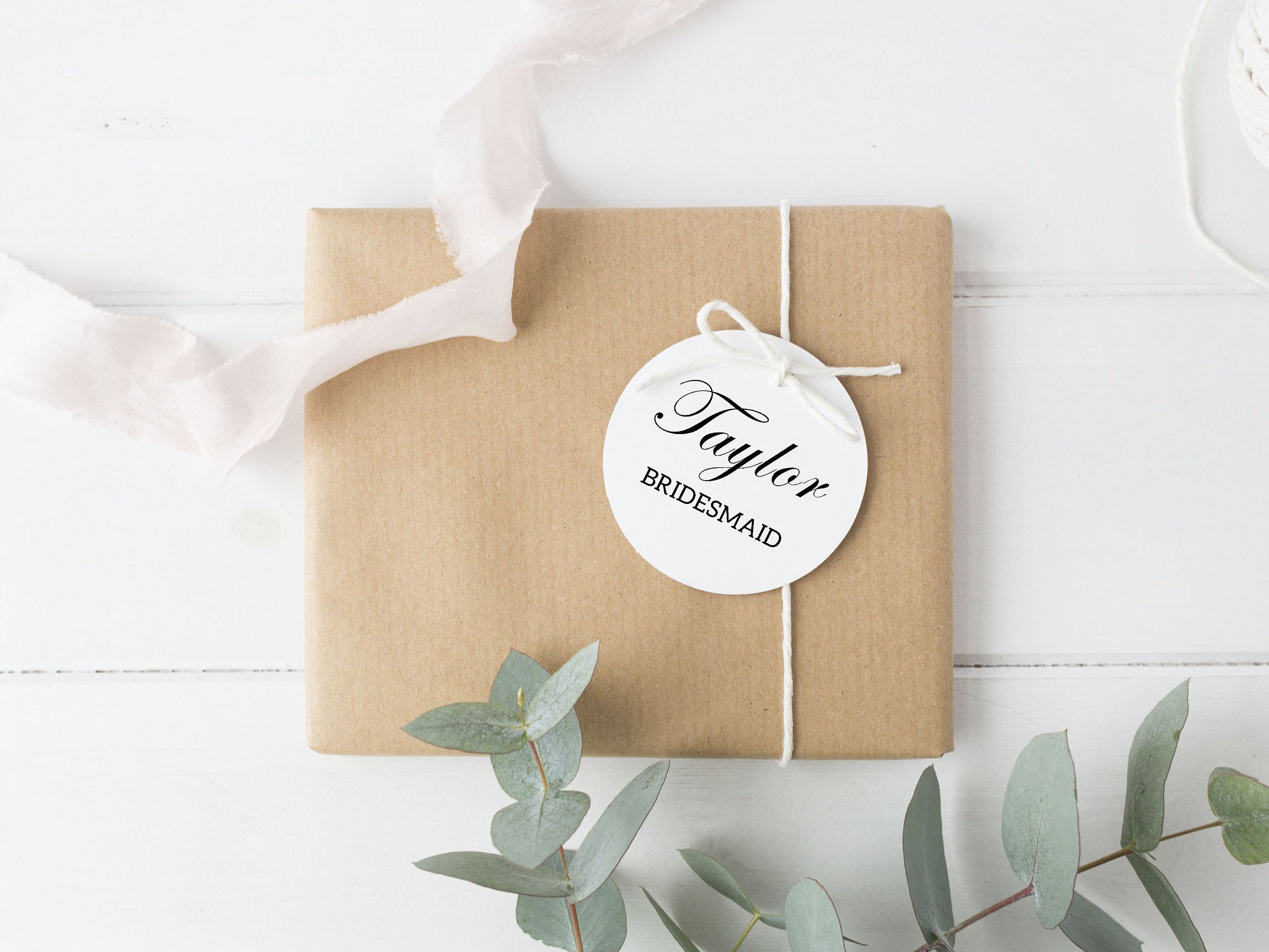 Personalized Name Gift Tag Favor Bridesmaid