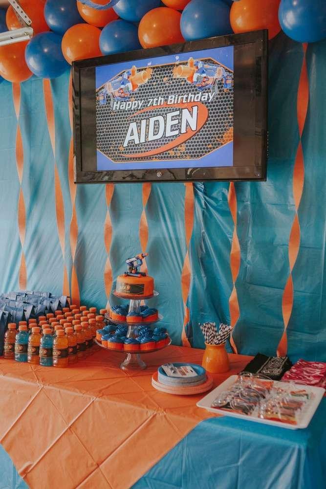 Nerf Birthday Party Ideas Nerf Birthday Party Birthday