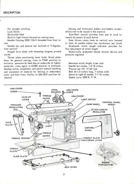 Singer 604 And 629 Sewing Machine Service Manual  Singer