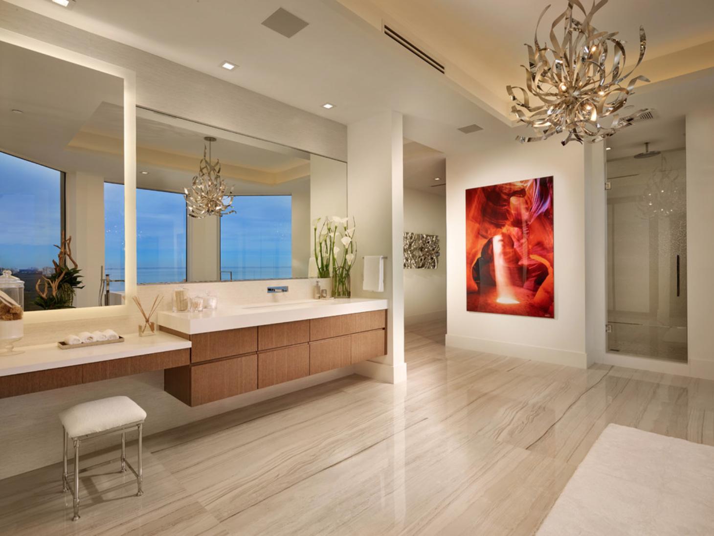 Naples | Modern master bathroom, Contemporary interior ...