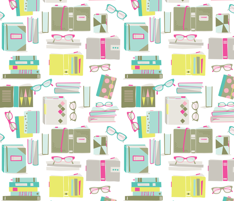Reading List fabric by kate_legge on Spoonflower - custom fabric