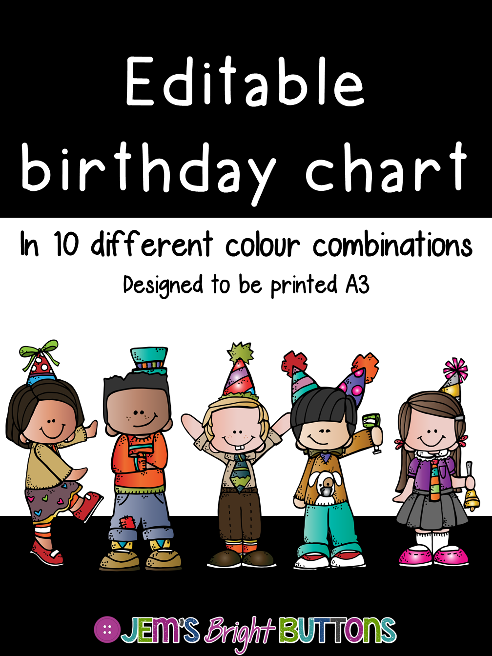 Editable birthday chart jem   bright buttons also dbt classroom rh pinterest